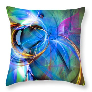 Birth Of The Butterfly Throw Pillow by Modern Art Prints