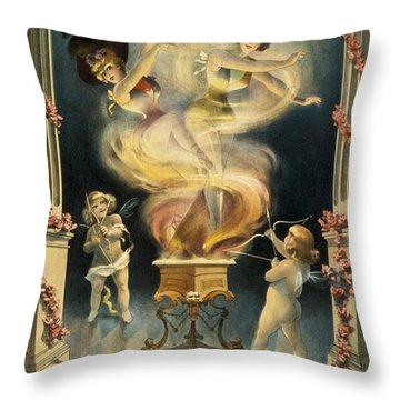 Birth Of The Chorus Girl Throw Pillow by Aged Pixel
