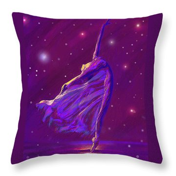 Birth Of The Cosmos Throw Pillow by Jane Schnetlage