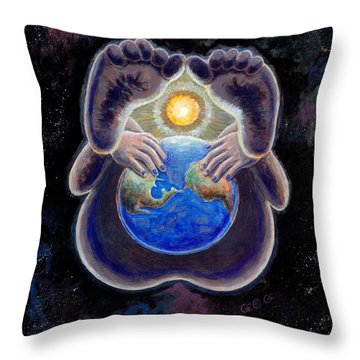 Birth Of The Earth Throw Pillow