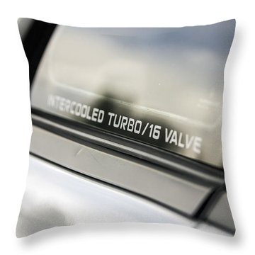 Birthday Car - Intercooled Turbo 16 Valve Throw Pillow