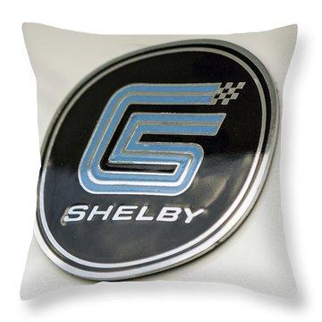Birthday Car - Shelby Logo Throw Pillow