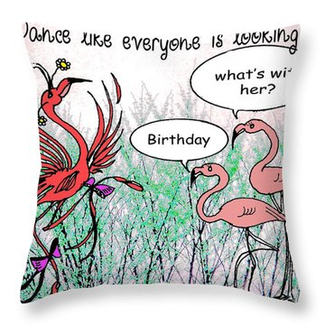 Birthday Dance Throw Pillow