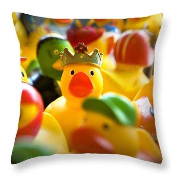Birthday Ducks Throw Pillow