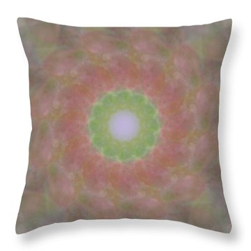 Birthing Mandala 1 Throw Pillow by Rhonda Barrett