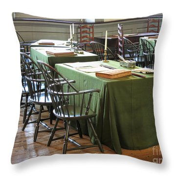 Birthplace Of A Nation Throw Pillow by Olivier Le Queinec