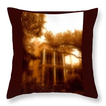 Birthplace Of A Vampire In New Orleans, Louisiana Throw Pillow by Michael Hoard