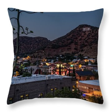 Bisbee At Night Throw Pillow by Beverly Parks