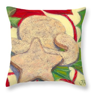 Biscochitos-nm State Cookie Throw Pillow by Julie Maas