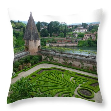 Bishop Garden In Albi France Throw Pillow by Susan Alvaro