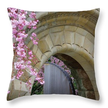 Throw Pillow featuring the photograph Bishop's Gate by John S