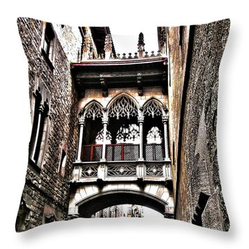 Bishop's Street - Barcelona Throw Pillow