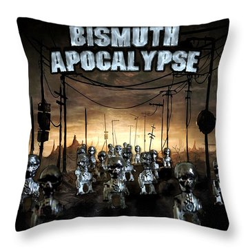 Bismuth Apocalypse Throw Pillow