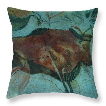 Bison Buffalo Throw Pillow by Unknown