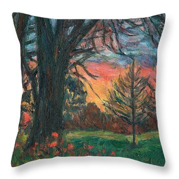 Bisset Park Sunrise Throw Pillow by Kendall Kessler