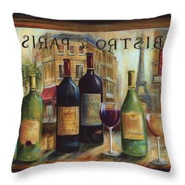 Bistro De Paris Throw Pillow by Marilyn Dunlap