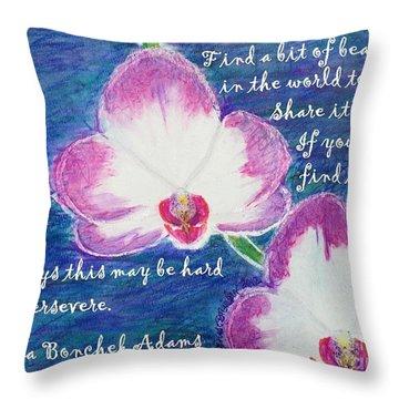 Bit Of Beauty For Lisa Throw Pillow