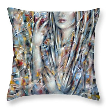 Throw Pillow featuring the painting Bitter Sweet 270610 by Selena Boron