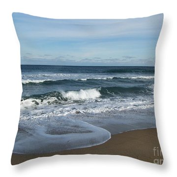 Throw Pillow featuring the photograph Winter Beach  by Eunice Miller