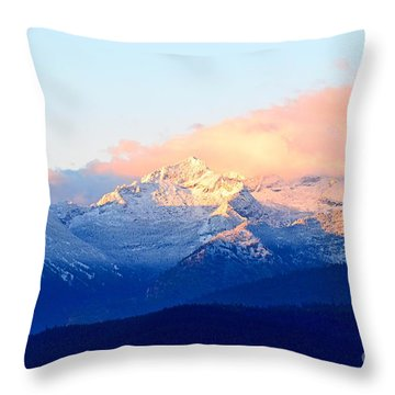 Bitterroot Mountains Montana Throw Pillow