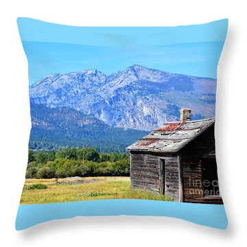Throw Pillow featuring the photograph Bitterroot Valley Cabin by Joseph J Stevens