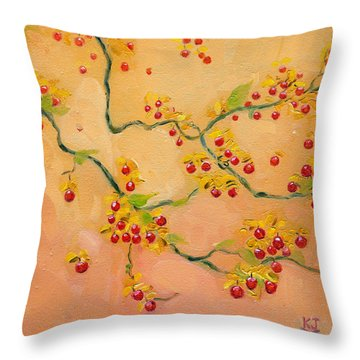Bittersweets Throw Pillow by Katherine Miller