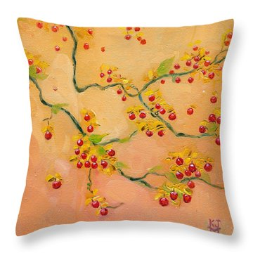 Bittersweets Throw Pillow