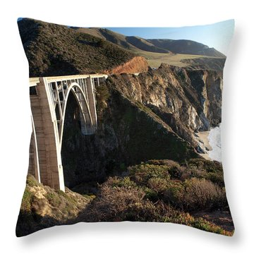 Bixby Bridge Afternoon Throw Pillow