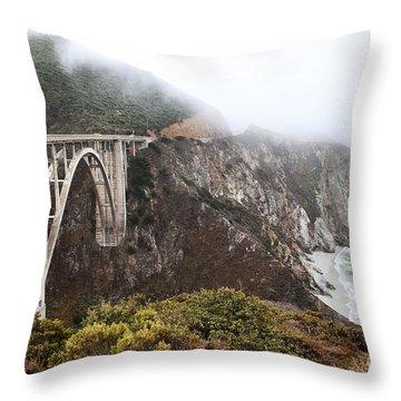 Bixby Bridge II Throw Pillow by Jenna Szerlag