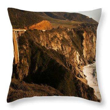 Throw Pillow featuring the photograph Bixby Bridge by Lee Kirchhevel