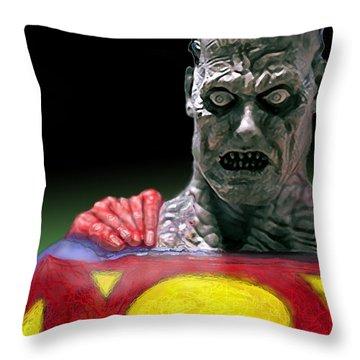 Bizarro Throw Pillow by Gabe Arroyo