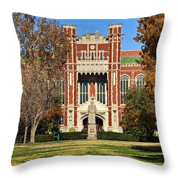 Bizzell Memorial Library Throw Pillow