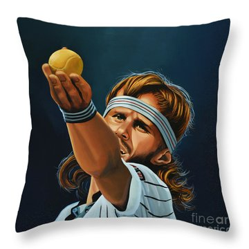Bjorn Borg Throw Pillow by Paul Meijering