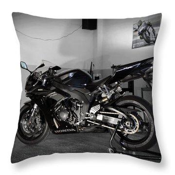 Black 2007 Honda Cbr1000rr Throw Pillow