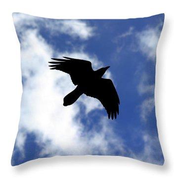Black Above Throw Pillow