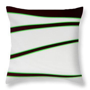 Throw Pillow featuring the photograph Black And Green by Joe Kozlowski