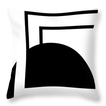 Black And White Art - 127 Throw Pillow by Ely Arsha