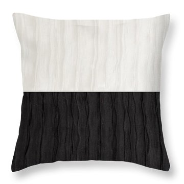 Black And White Attraction Throw Pillow by Margaret Ivory