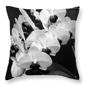 Black And White Beauty Throw Pillow by Ramona Matei