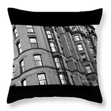 Black And White Building Facade Throw Pillow