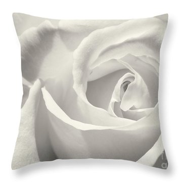 Black And White Curves Throw Pillow by Sabrina L Ryan