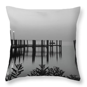 Black And White Dock Throw Pillow