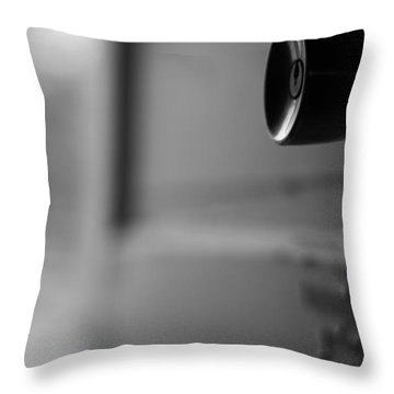 Black And White Door Handle Throw Pillow