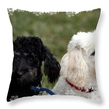 Black And White Throw Pillow by Ellen O'Reilly