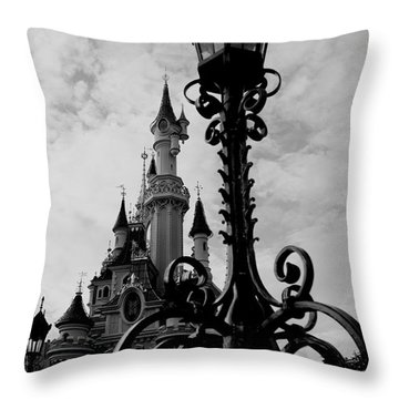 Black And White Fairy Tale Throw Pillow