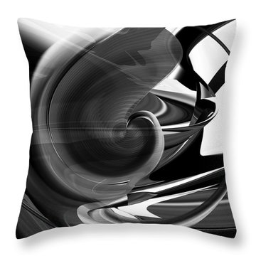 Black And White Future Abstract Throw Pillow