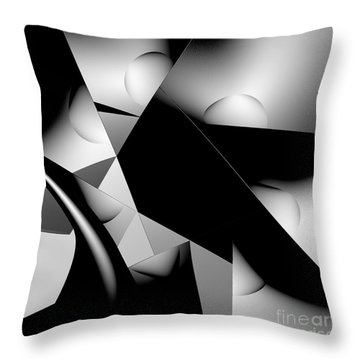 Black And White Throw Pillow