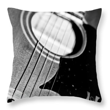 Black And White Harmony Guitar Throw Pillow
