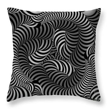 Black And White Illusion Throw Pillow