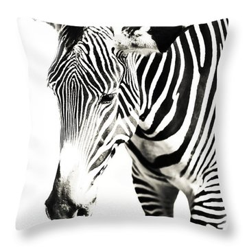 Black And White Throw Pillow by Jenny Rainbow